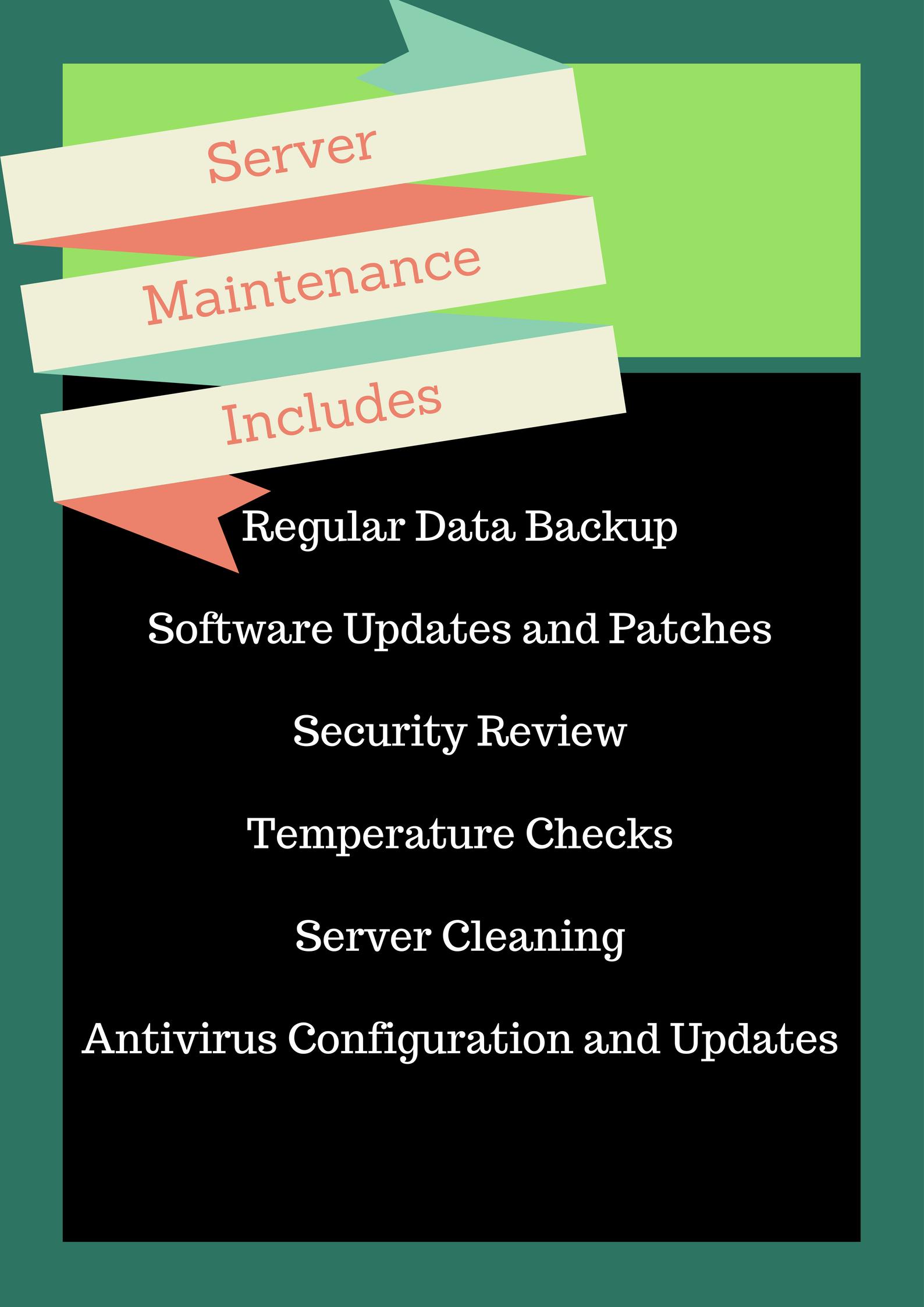 how to do server maintenance
