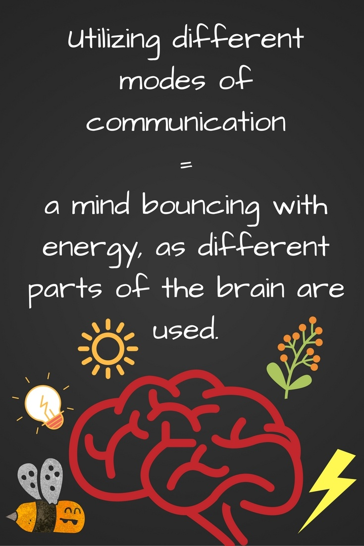 Use different modes of communication!