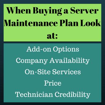 Buying a Server Maintenance Plan