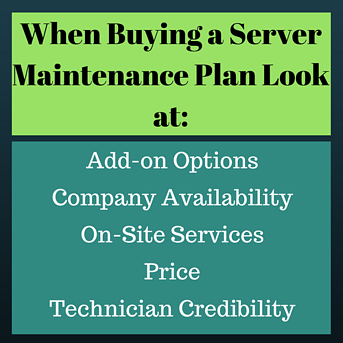 Buying a Server Maintenance Plan