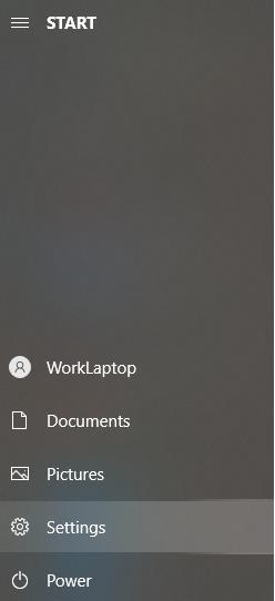 settings from start