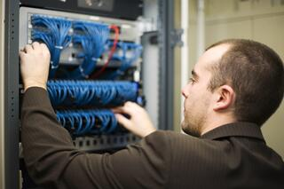 A server maintenance company will monitor the servers for you.